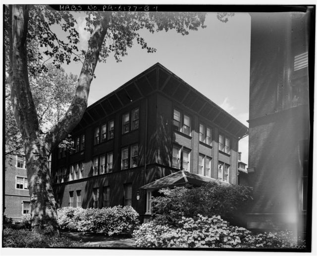 Foulke & Long Institute, Dormitory, 205 South Thirty-fourth Street, Philadelphia, Philadelphia County, PA
