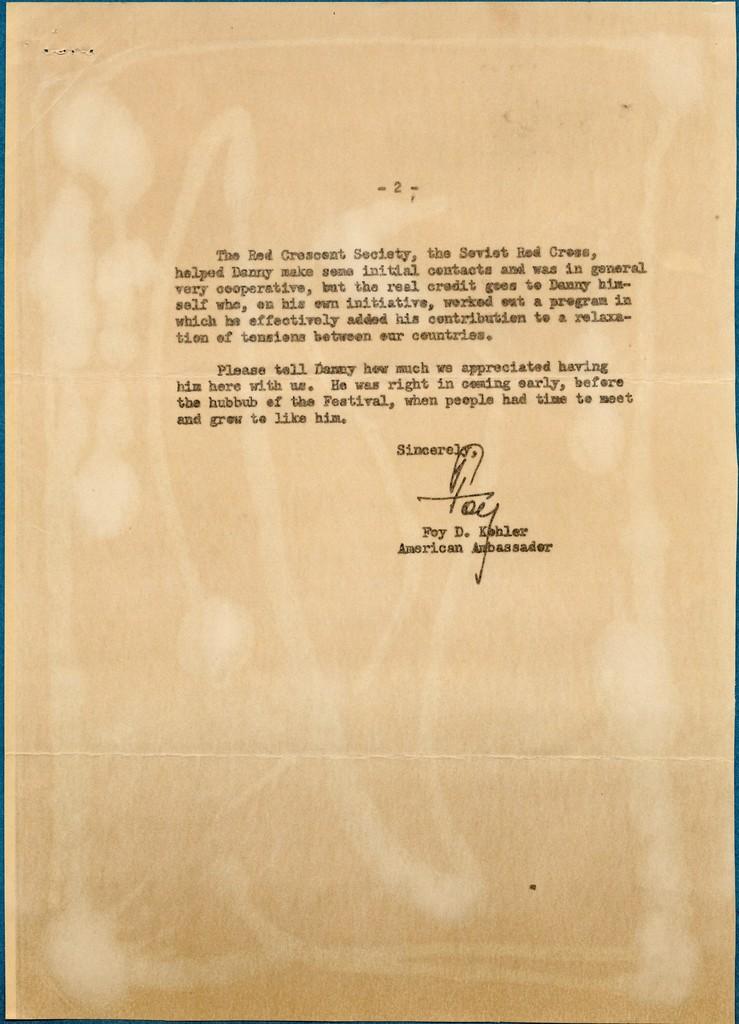 [ Foy D. Kohler, American Ambassador, to Edward R. Murrow, Director, U.S. Information Agency, July 26, 1963]