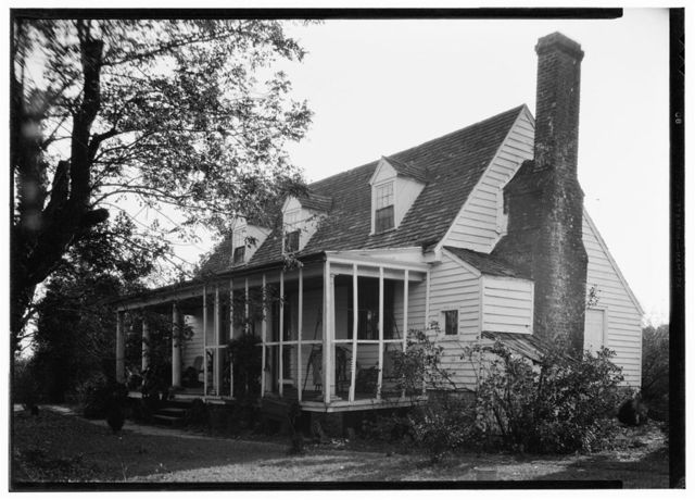 """Frame House & Kitchen """"Bowlers"""", State Route 684, Center Cross, Essex County, VA"""