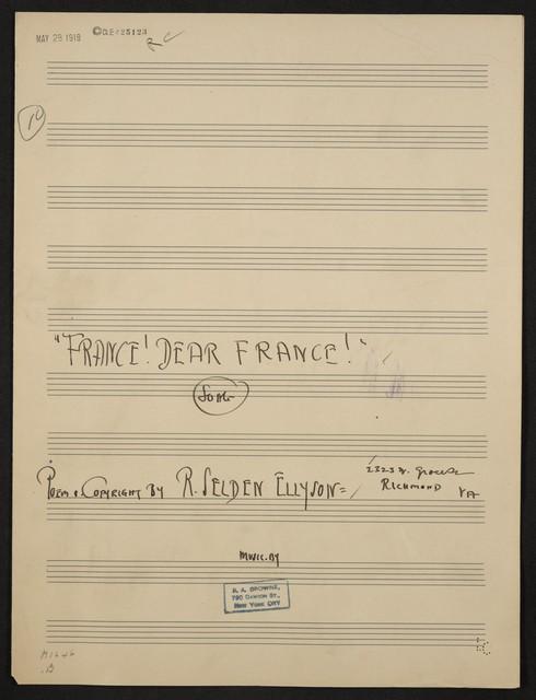 France! Dear France! song