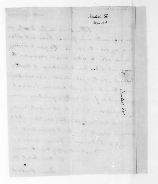 Francis Kinloch to James Madison. Docketed March 26.