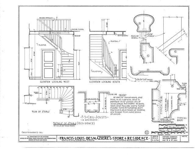 Francis Louis des Mazieres Store Building & House, Martinez & South Alamo Streets, San Antonio, Bexar County, TX