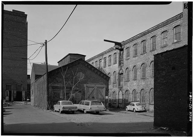 Franklin Manufacturing Company, Waverley Mill, Van Houten & Mill Streets, Paterson, Passaic County, NJ