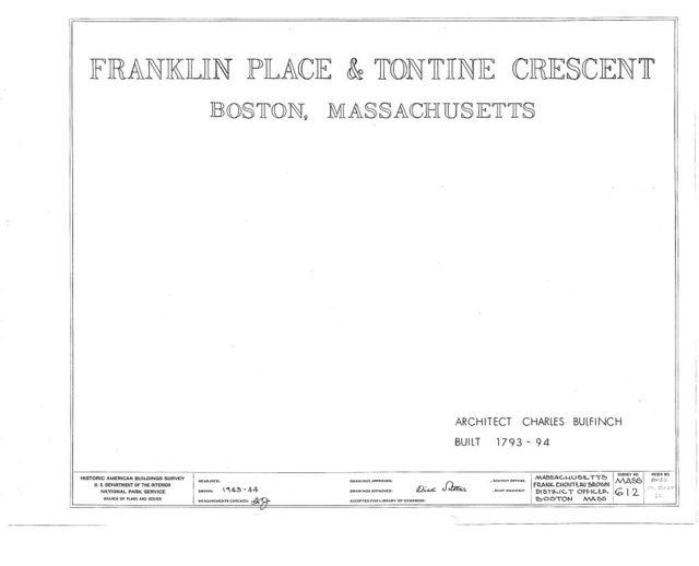 Franklin Place & Tontine Crescent, Franklin Street, Boston, Suffolk County, MA