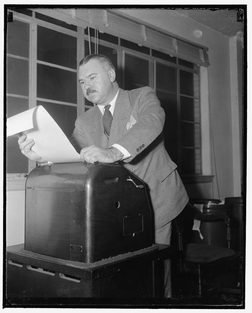 Franklyn Waltman with Rep. Nat'l. Com., 1/17/39