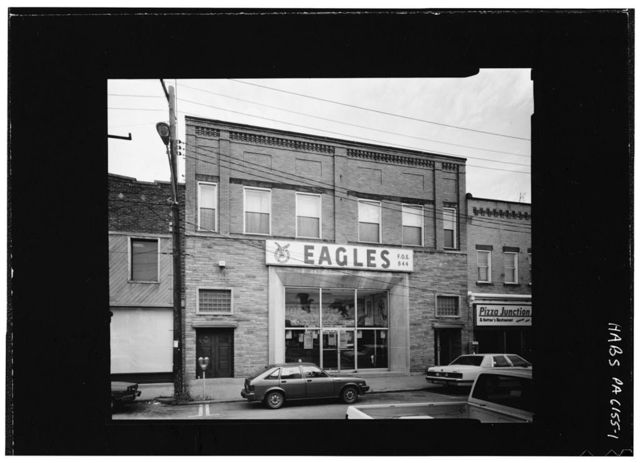 Fraternal Order of Eagles Aerie 844, Fourth Street & Bullitt Avenue, Jeannette, Westmoreland County, PA