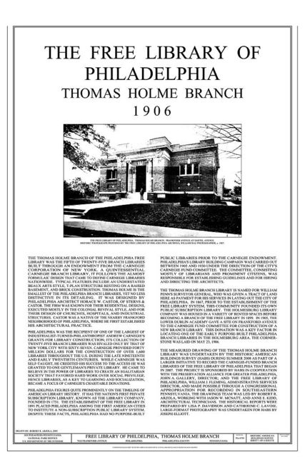 Free Library of Philadelphia, Thomas Holme Branch, 7810 Frankford Avenue, Philadelphia, Philadelphia County, PA