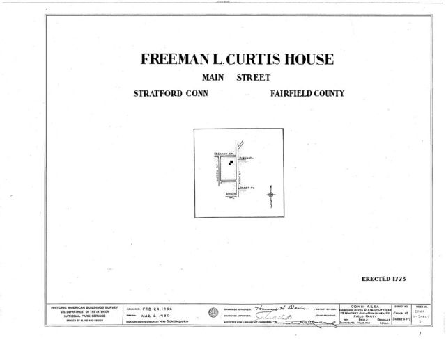 Freeman L. Curtis House, 3355 Main Street, Stratford, Fairfield County, CT