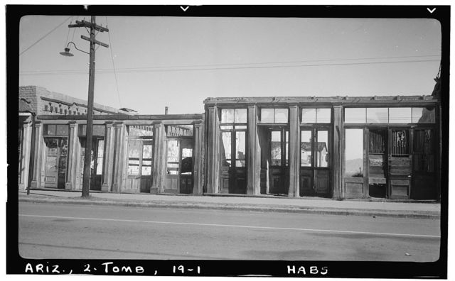 Fremont Street (Commercial Buildings, Ruins), Tombstone, Cochise County, AZ