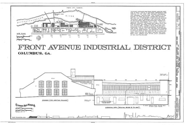 Front Avenue Industrial District, Front Avenue between Eighth & Fourteenth Streets, Columbus, Muscogee County, GA