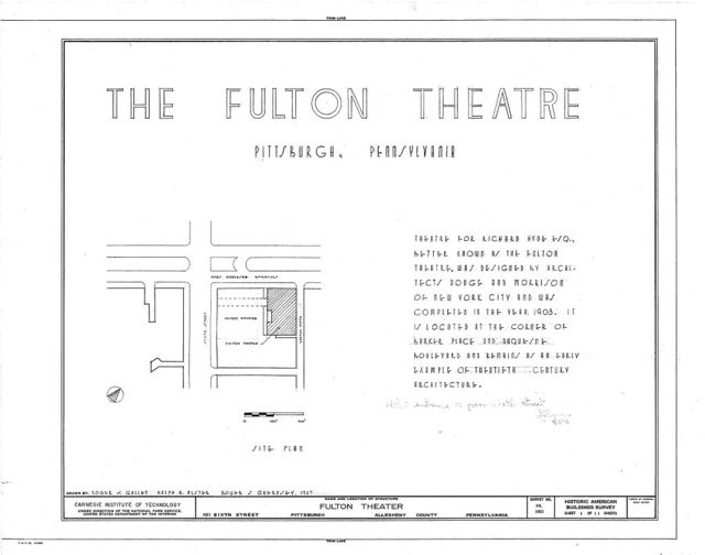 Fulton Theater, 101 Sixth Street, Pittsburgh, Allegheny County, PA
