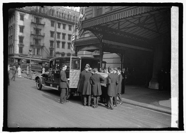 Funeral of Thomas R. Marshall, Willard Hotel, [Washington, D.C.], 6/2/25