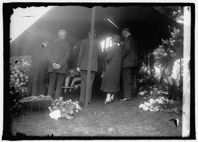 Funeral services at Arlington [Virginia] of Wm. J. Bryan, 7/31/25