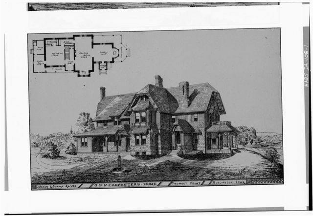 G. B. P. Carpenter House, 100 Block of Polk Streets (Prospect Point), Burlington, Des Moines County, IA