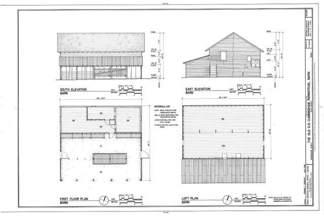 G. H. Cunningham Farmstead, Barn, 228 feet northwest of the Main House, Waxahachie, Ellis County, TX