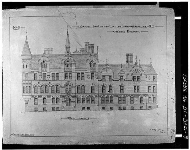 Gallaudet College, College Hall, Seventh & Florida Avenue Northeast, Washington, District of Columbia, DC