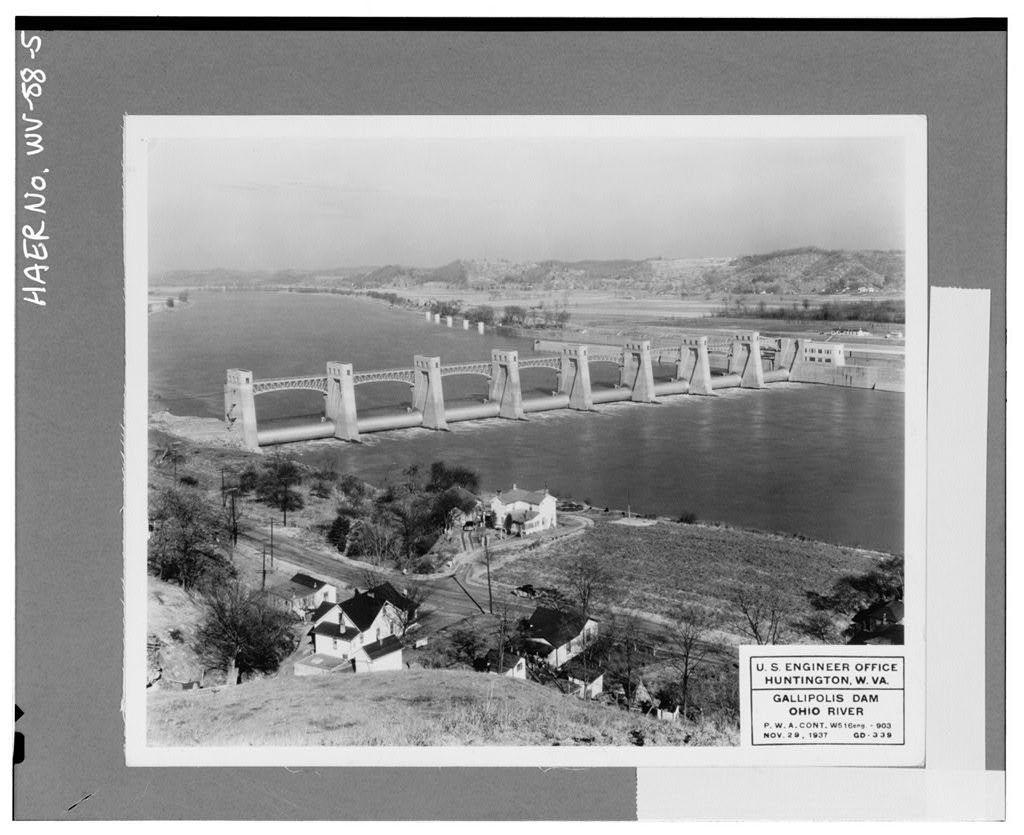 Gallipolis Locks & Dam, Across Ohio River, Gallipolis, Mason County, WV