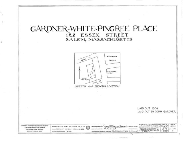 Gardner-White-Pingree Place, 128 Essex Street, Salem, Essex County, MA