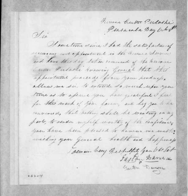 Gaston Davezac to Andrew Jackson