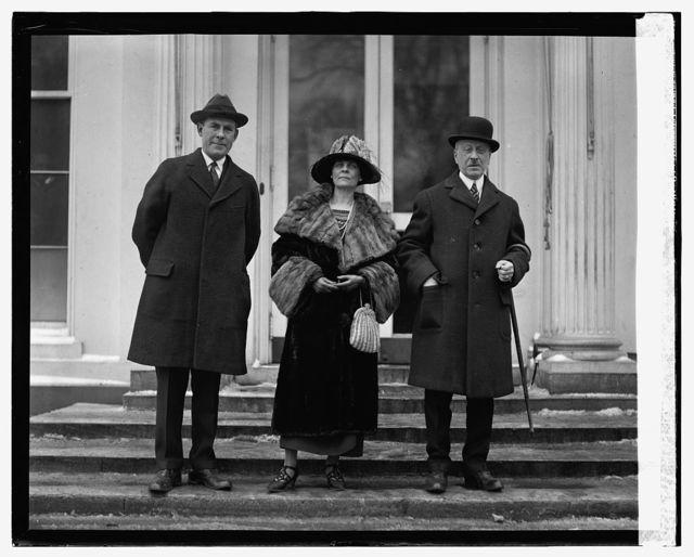 Gen. George Richards, Mrs. E.B. Meritt, Isaac Gana at W.H., 1/29/25