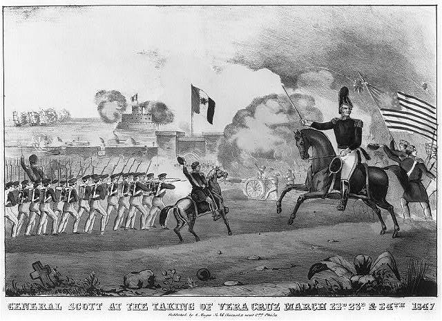 General Scott at the taking of Vera Cruz March 22d 23d & 24th 1847