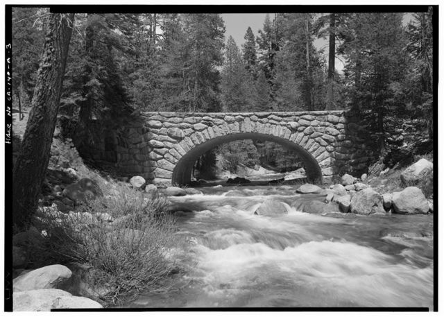 Generals Highway, Lodge Pole Bridge, Spanning Marble Fork of Kaweah River, approximately 21 miles northwest of Ash Mountain Entrance, Three Rivers, Tulare County, CA