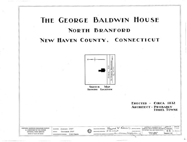 George Baldwin House, State Route 80, North Branford, New Haven County, CT