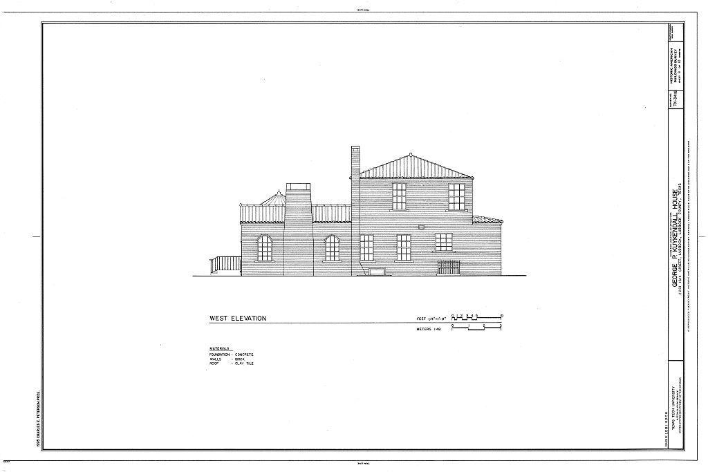 George P. Kuykendall House, 2201 Sixteenth Street, Lubbock, Lubbock County, TX