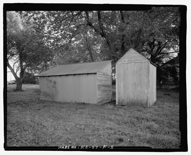 George Spangerberger Farmstead, East Tool Shed, 2012 West Illinois Avenue, South Hutchinson, Reno County, KS