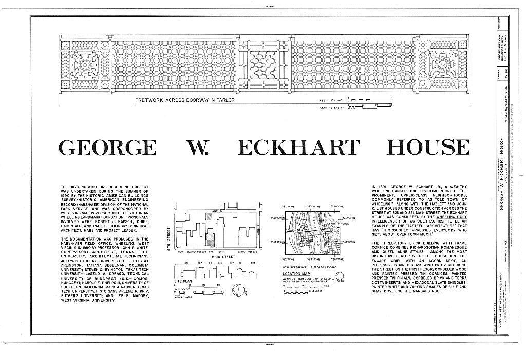 George W. Eckhart House, 810 Main Street, Wheeling, Ohio County, WV