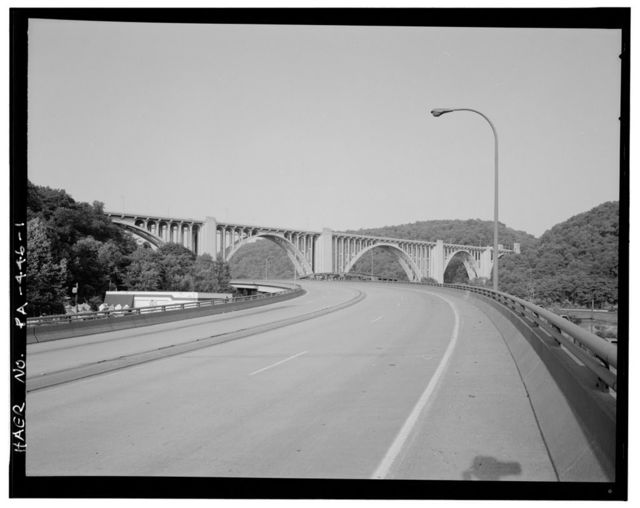 George Westinghouse Bridge, Spanning Turtle Creek at Lincoln Highway (U.S. Route 30), East Pittsburgh, Allegheny County, PA