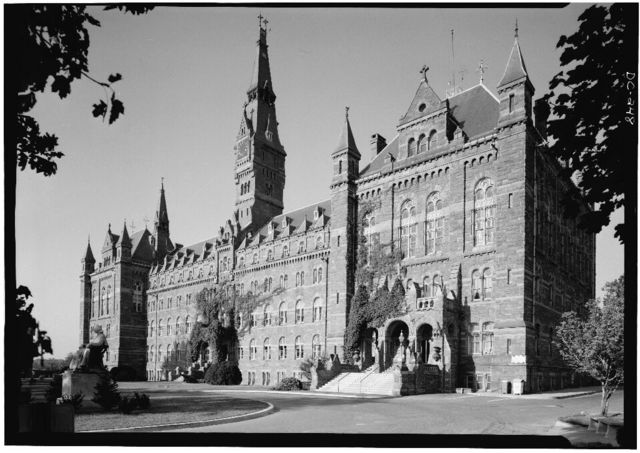 Georgetown University, Healy Building, Thirty-seventh & O Streets, Northwest, Washington, District of Columbia, DC
