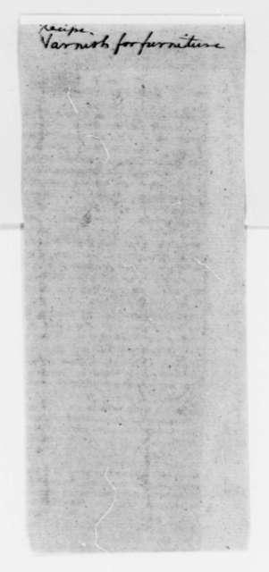 Gilbert Stuart, no date, Mahogany Varnish Recipe
