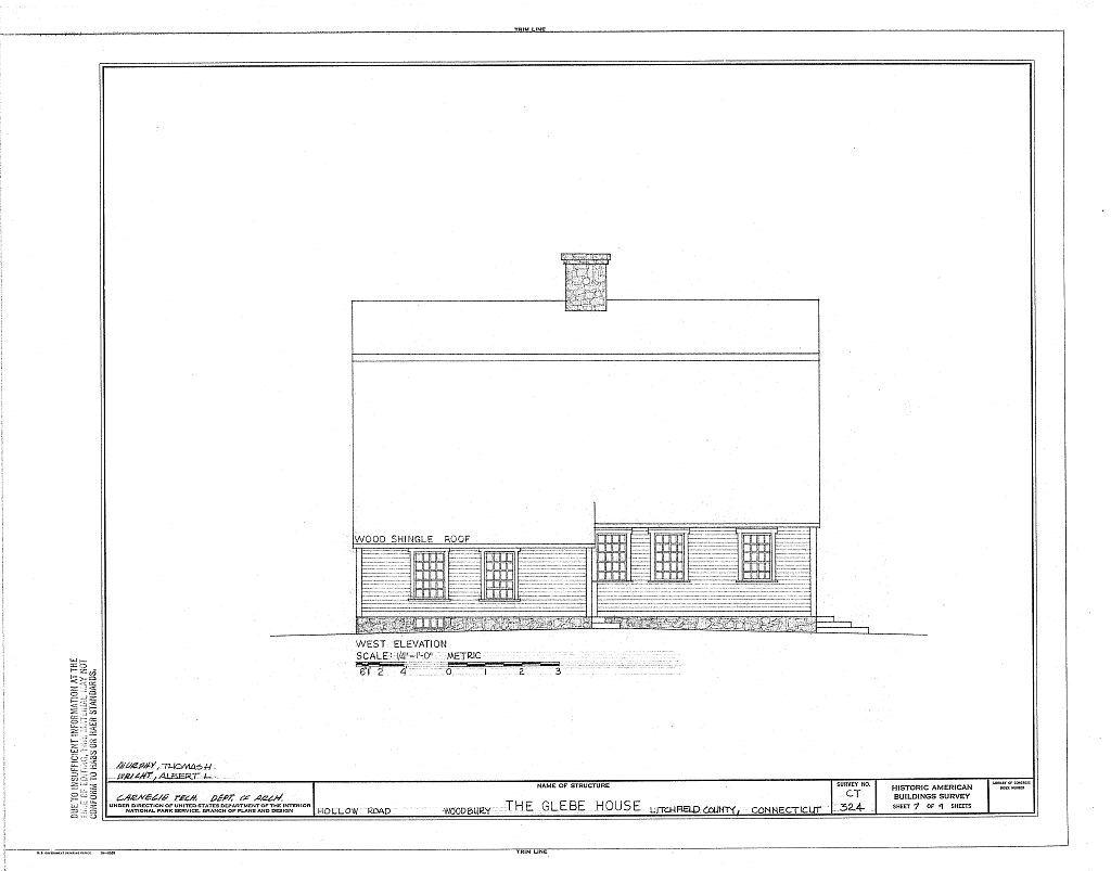 Glebe House, Hollow Road, Woodbury, Litchfield County, CT