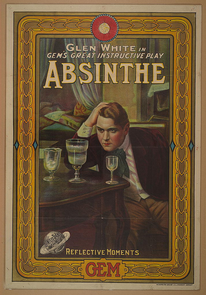 Glen White in Gem's great instructive play, Absinthe--Reflective moments / Metropolitan Division, U.S. Lithograph Company.