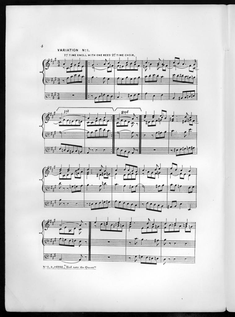 God save the queen, op. 67, no. 5