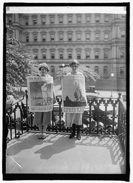 Goldie Dunn, Louise Hiatt, Nat'l Com. Prevention of War, 7/13/24