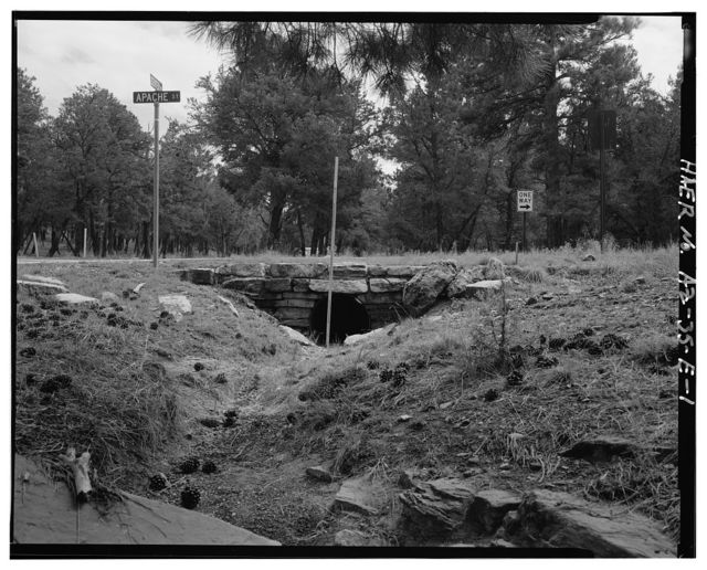Grand Canyon National Park Roads, Apache Street Headwall No. 1, Northwest corner of intersection of Apache Street and Center Road, Grand Canyon Village, Coconino County, AZ