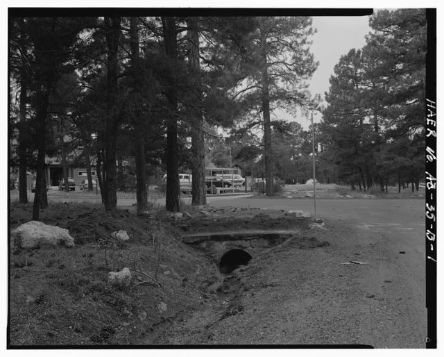 Grand Canyon National Park Roads, Village Loop Headwall No. 1, Southeast corner of intersection of Village Loop Drive and Center Road, Grand Canyon Village, Coconino County, AZ
