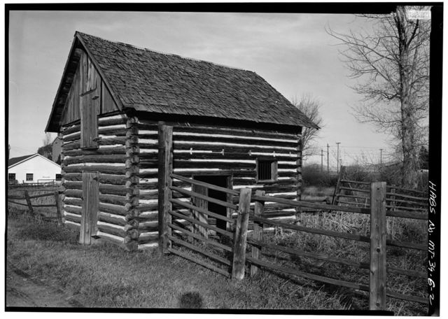 Grant-Kohrs Ranch, Stallion Barn No. 1, Highway 10, Deer Lodge, Powell County, MT