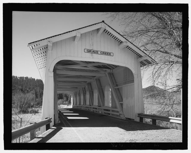 Grave Creek Bridge, Spanning Grave Creek on Sunny Valley Loop Road, Sunny Valley, Josephine County, OR