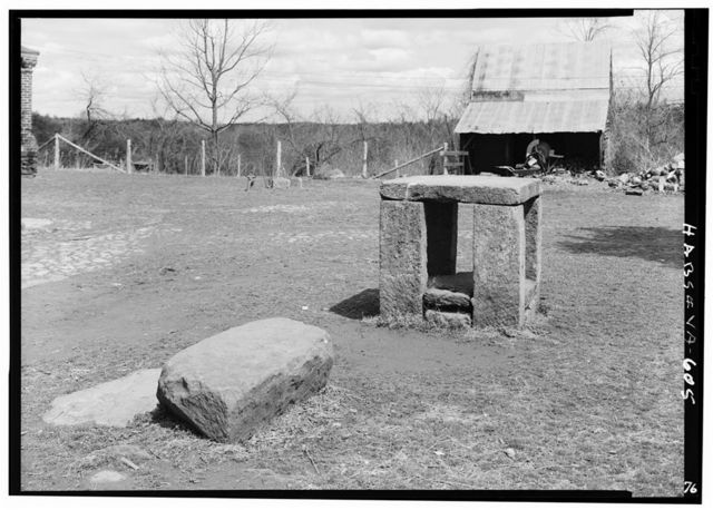 Green Hill Plantation, Slave Auction Block, State Route 728, Long Island, Campbell County, VA