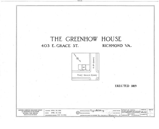 Greenhow, 403 East Grace Street, Richmond, Independent City, VA