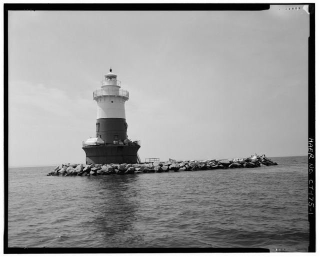 Green's Ledge Lighthouse, Long Island Sound, Norwalk, Fairfield County, CT