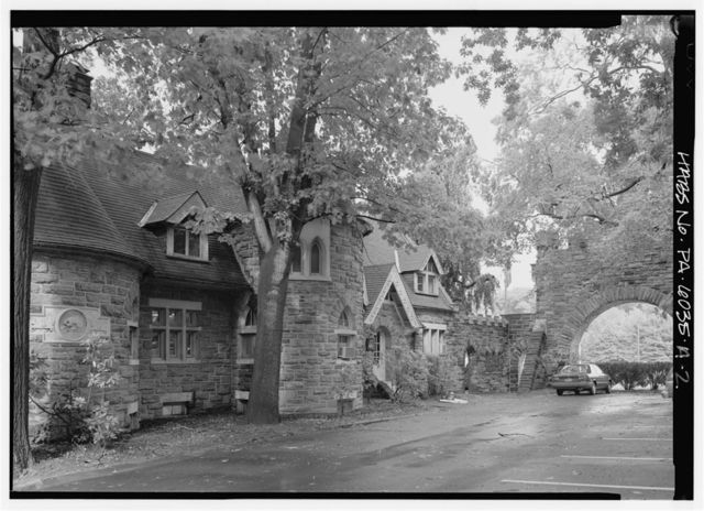 Grey Towers, Gate & Gatehouse, 450 South Easton Road, Beaver College, Glenside, Montgomery County, PA