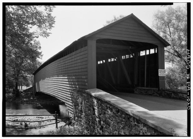 Griesemer Mill Covered Bridge, 3.5 miles north of State Route 562, spanning Manatawny Creek, Yellow House, Berks County, PA