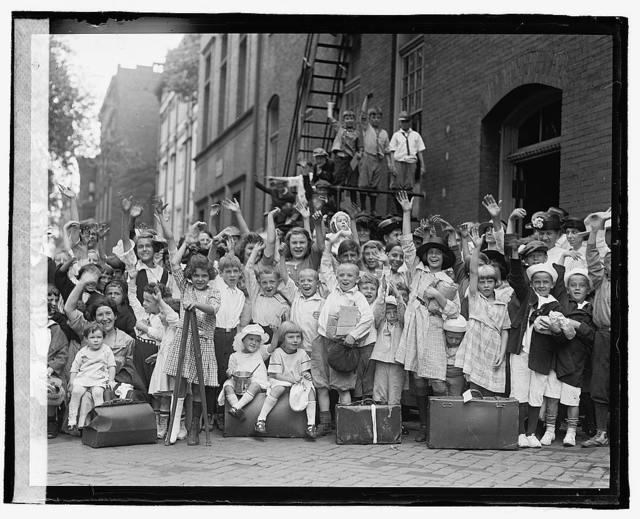 [Group portrait with children waving], 7/24/22