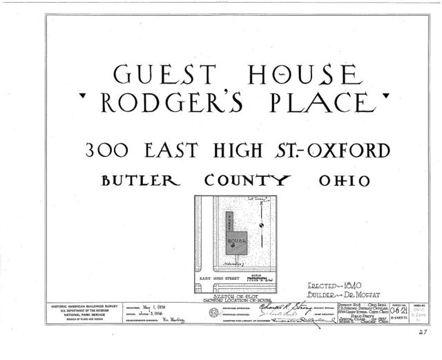 """""""Guest House"""", 300 East High Street, Oxford, Butler County, OH"""