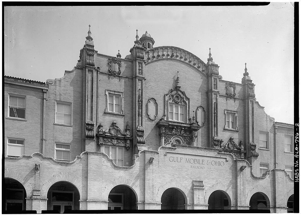 Gulf, Mobile & Ohio Railroad, Passenger Terminal, Beauregard Street & Telegraph Road, Mobile, Mobile County, AL