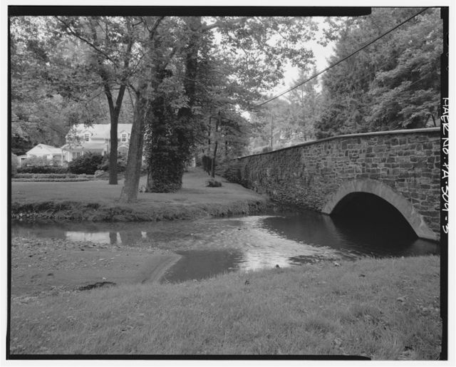 Gulph Creek Stone Arch Bridge, Spanning Gulph Creek at Old Gulph Road, King of Prussia, Montgomery County, PA